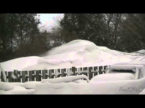 January Snowstorm in Ontario Canada - January 25th 2014