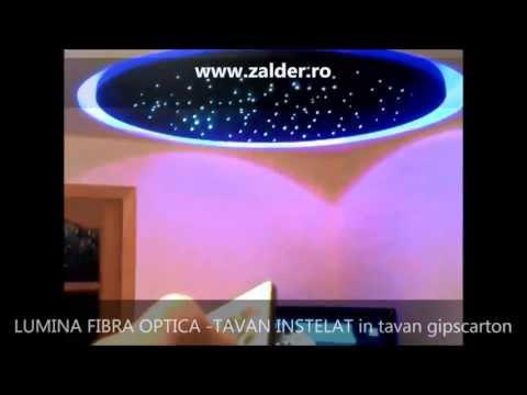 WWW ZALDER RO  LUMINA FIBRA OPTICA  TAVAN INSTELAT in tavan gipscarton regips