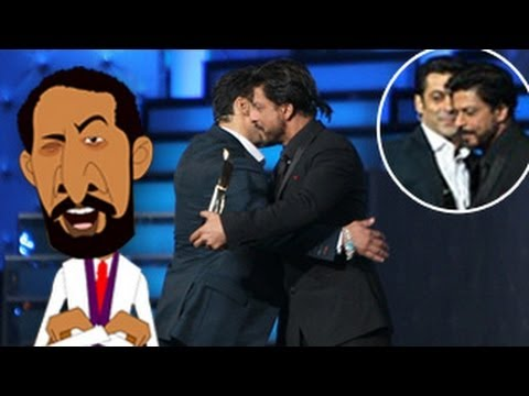 Shahrukh Khan & Salman Khan HUG at Star Guild Awards 2nd February 2014