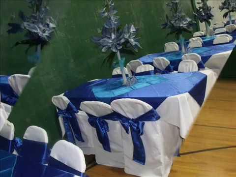 Faos events decoracion color azul royal y turquesa youtube for Decoracion petrole azul