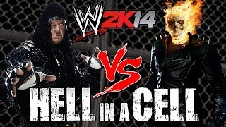 WWE 2K14 S1E10 Undertaker VS Ghost Rider (Hell In A Cell