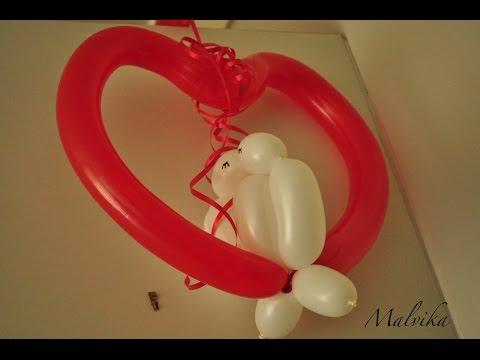 Làm trái tim bằng bóng bay nghệ thuật