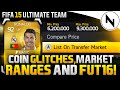 COIN GLITCHES, MARKET RANGES & FIFA 16 Ultimate Team!!