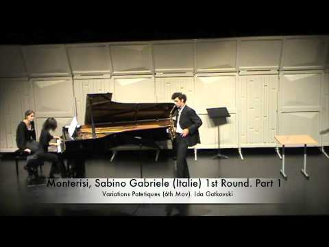 Monterisi, Sabino Gabriele (Italie) 1st Round. Part 1