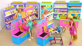 I ❤️ 2 Shop Barbie Deluxe Supermarket, Morning Ready for School boneka Barbie Supermercado