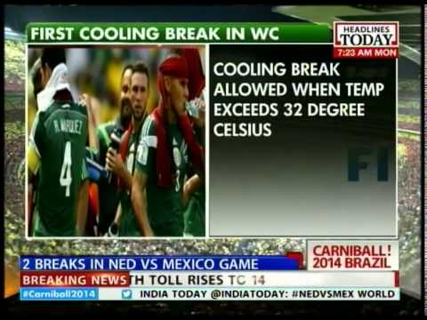FIFA: 1st cooling break in history of World Cup