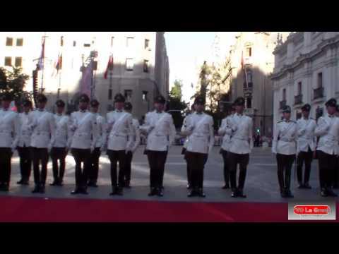 Llegada de Michelle Bachelet a Palacio de la Moneda luego de Cambio de mando.