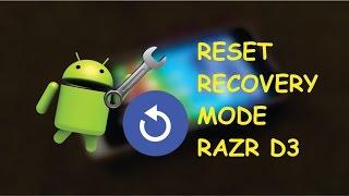 Razr D3 Master Reset Por Recovery Mode