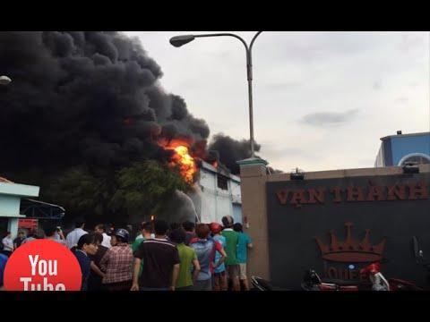 Cty nệm vạn thành cháy lớn, điều 36 xe cứu hỏa dập lửa - [Tin mới 123]