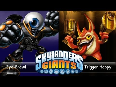 SKYLANDERS GIANTS - EYE-BRAWL VS. TRIGGER HAPPY (VERSUS)