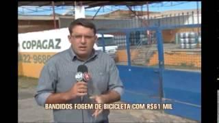 Funcion�rio de dep�sito de g�s � baleado durante assalto em Pouso Alegre