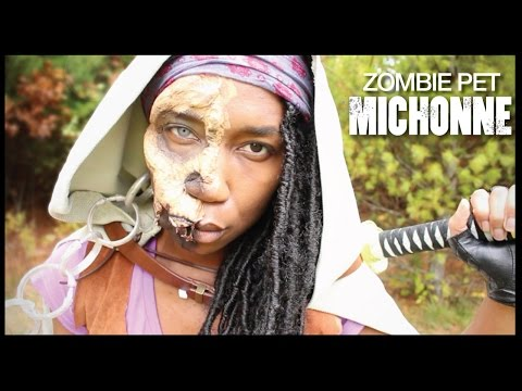 Jawless Zombie Pet Michonne + DIY Michonne Cloak | The Walking Dead Costume Cosplay