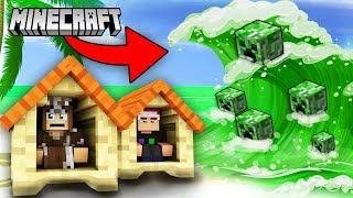 Minecraft SÓNG THẦN CREEPER | Thử Thách Sinh Tồn