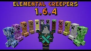 Minecraft: Elemental Creepers 1.6.4 Mod Review