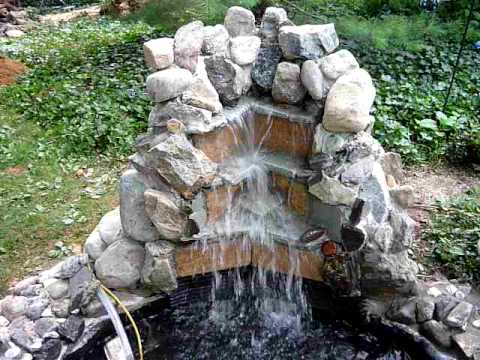 Waterfall Homemade Backyard Youtube