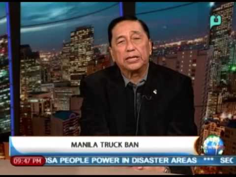 NewsLife Inteview: Sergio Luiz Ortiz, PHL Export President - on 'Manila Truck Ban' || Feb. 21, '14