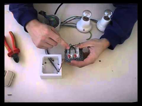 Instalaci n de interruptor doble a dos puntos de luz - Interruptor de cruce ...