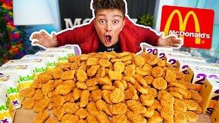 1000 CHICKEN NUGGETS CHALLENGE!! *200,000 CALORIES* (Breaking McDonalds World Records)