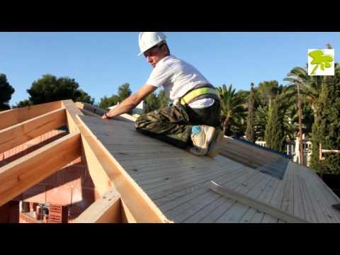 Edificativa construccion tejado de madera youtube - Como hacer un techo de madera ...