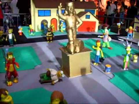 Maqueta Ciudad de Springfield de los Simpsons