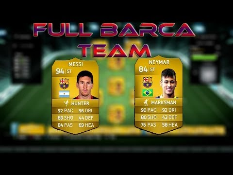 FULL BARCELONA TEAM SQUAD BUILDER #3 1.75 MILLION COINS - FIFA 14 ULTIMATE TEAM