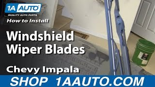 How To Install Replace Windshield Wiper Blades 2006-12