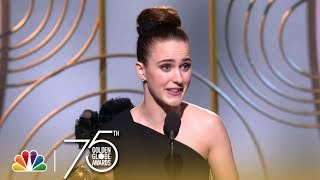 Rachel Brosnahan Wins Best Actress in a TV Series, Comedy at the 2018 Golden Globes