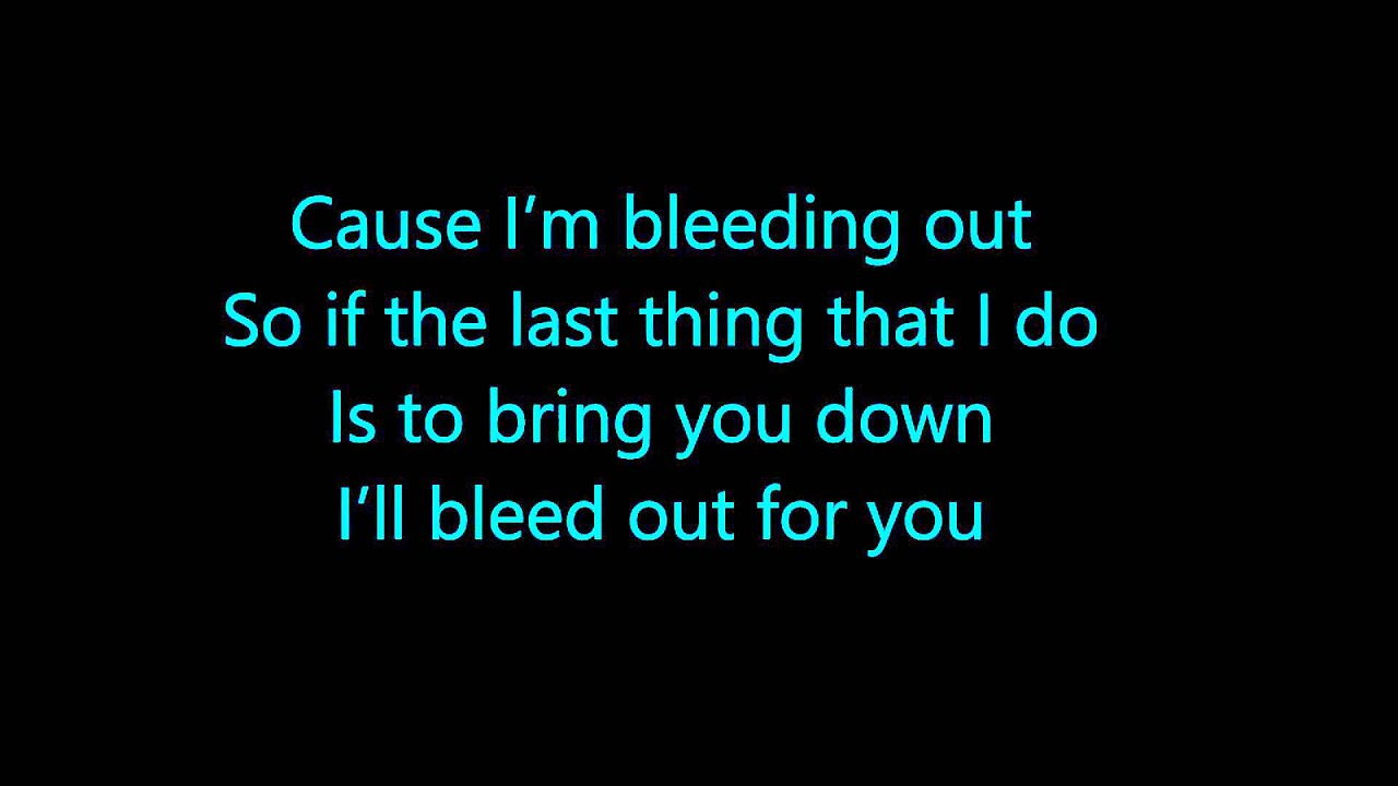 Imagine Dragons - bleeding out (Lyrics) - YouTube