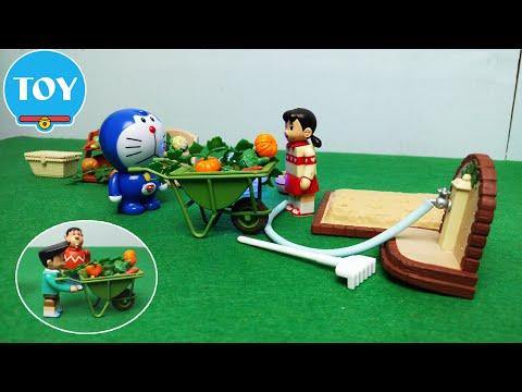 Siêu nhân Doremon Superman bắt 2 kẻ trộm bí đỏ Chaien Xeko giúp Xuka - hoạt hình doremon chế đồ chơi