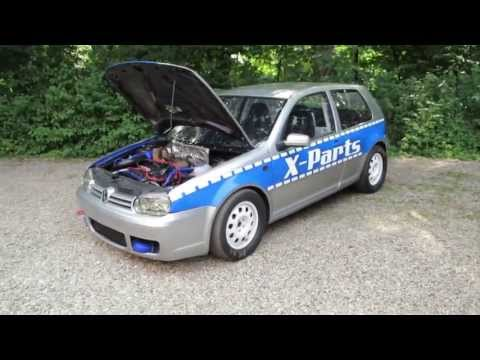 X-Parts dragrace project GOLF MK4 VR6 Turbo 1/4 Meile