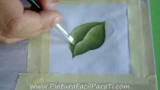 Como Pintar Hojas En Tela Tutorial- Pintura En Tela Cómo