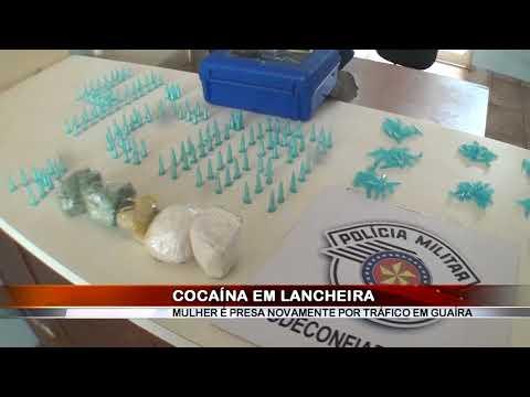 16/04/2018 - Mulher que saiu da cadeia recentemente é presa novamente por tráfico de drogas em Guaíra