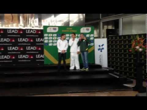 Team SA Arrival: Cameron van der Burgh and Chad le Clos