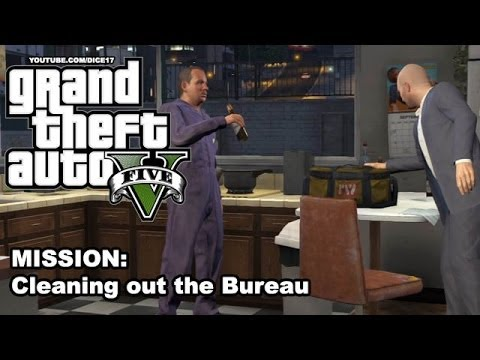 gta 5 gameplay walkthrough mission 50 cleaning out the bureau youtube. Black Bedroom Furniture Sets. Home Design Ideas