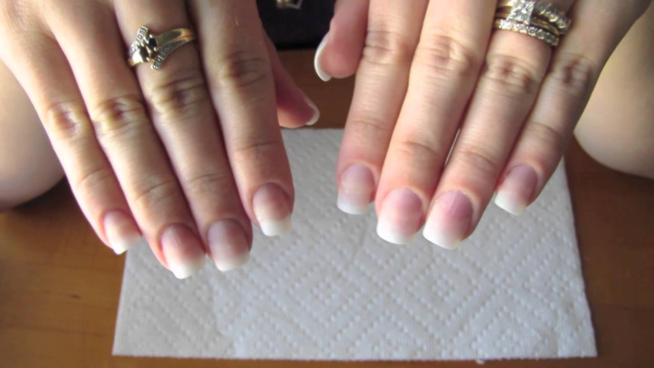 to your natural nail using tip extensions and gel polish - YouTube
