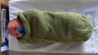 Capullo Para BeBe Tejido En Telar Facil Una Frazada