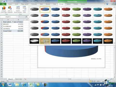 Building a Pivot Table in Excel 2010 -- Part 2