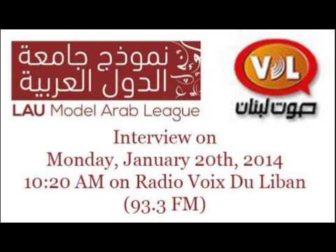 LAU Model Arab League '14 Interview @ Radio Voix Du Liban