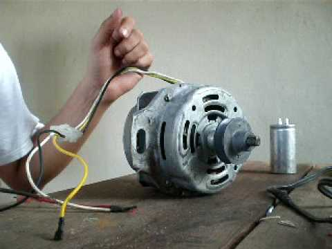 Induction Motor 1 Phase Manual Start Removing Capacitor