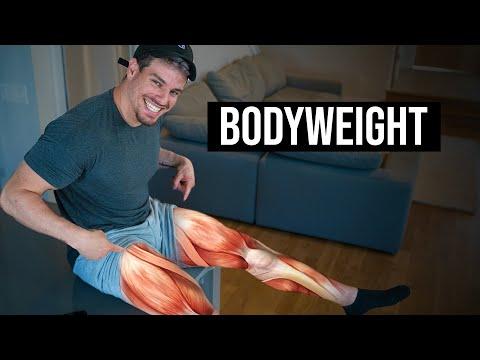 BODYWEIGHT Leg Workout | Day 18