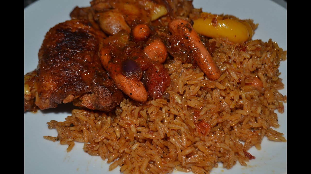 recette du riz au gras jollof rice cuisine togolaise. Black Bedroom Furniture Sets. Home Design Ideas