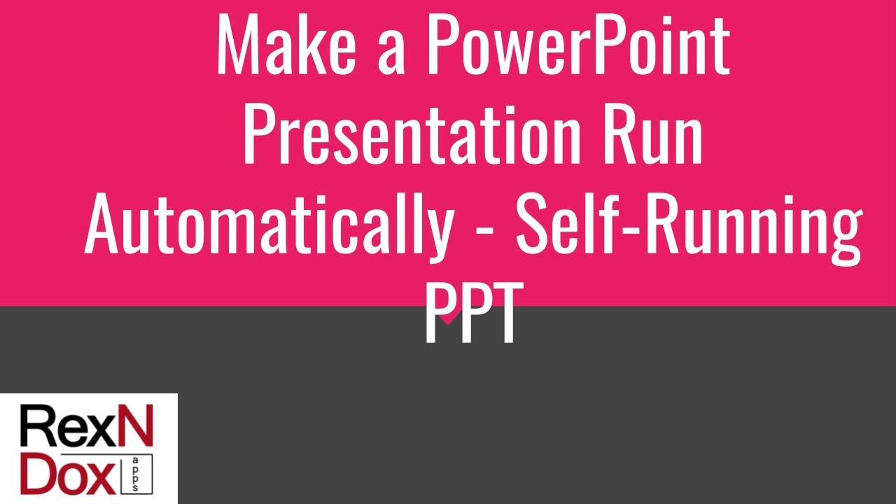 Create a self-running presentation