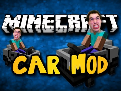 Minecraft Car Mod - BUILD CARS, DRIVE FAST! (HD)