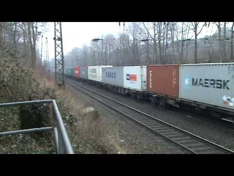 Container Train with BR189 electric locomotive DB Schenker Rail !