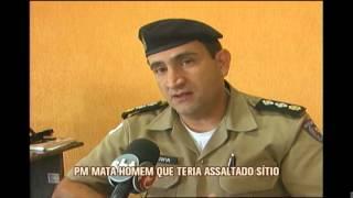 Homem suspeito de assaltar s�tio � morto por policial em Campo Belo
