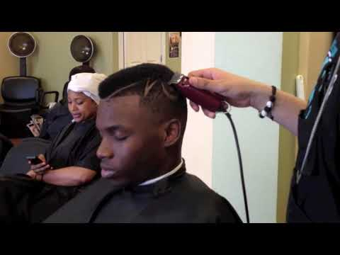 Gumby Slope Haircut With Designs