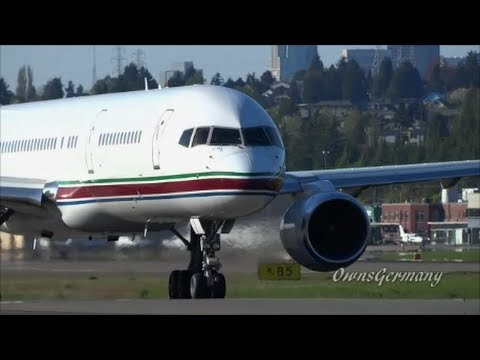 Phoenix Coyotes Private Boeing 757 Departs Seattle