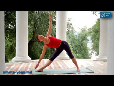 Йога, урок 4 Триканасана Поза треугольника