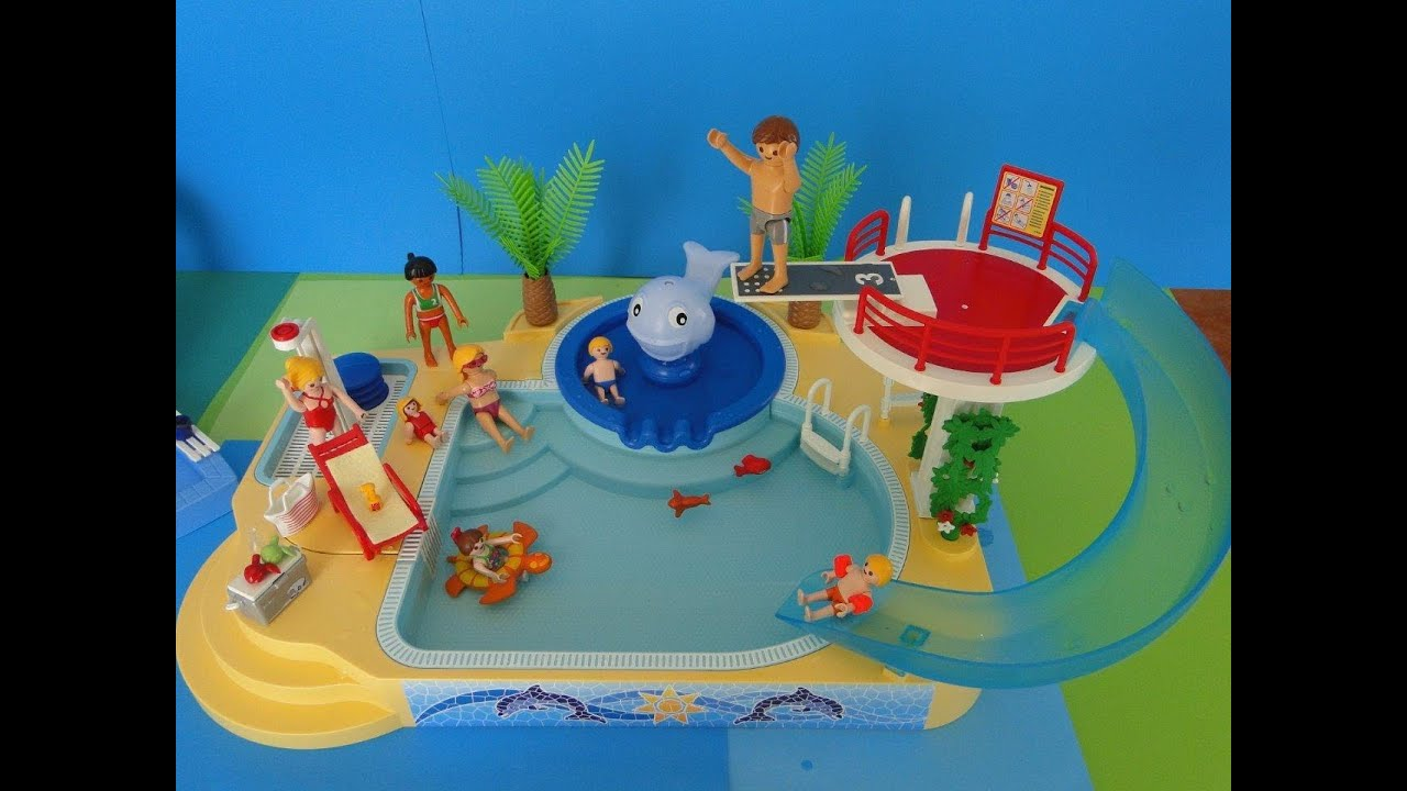 Pin playmobil summer fun 2014 camping youtube on pinterest for Piscine playmobil