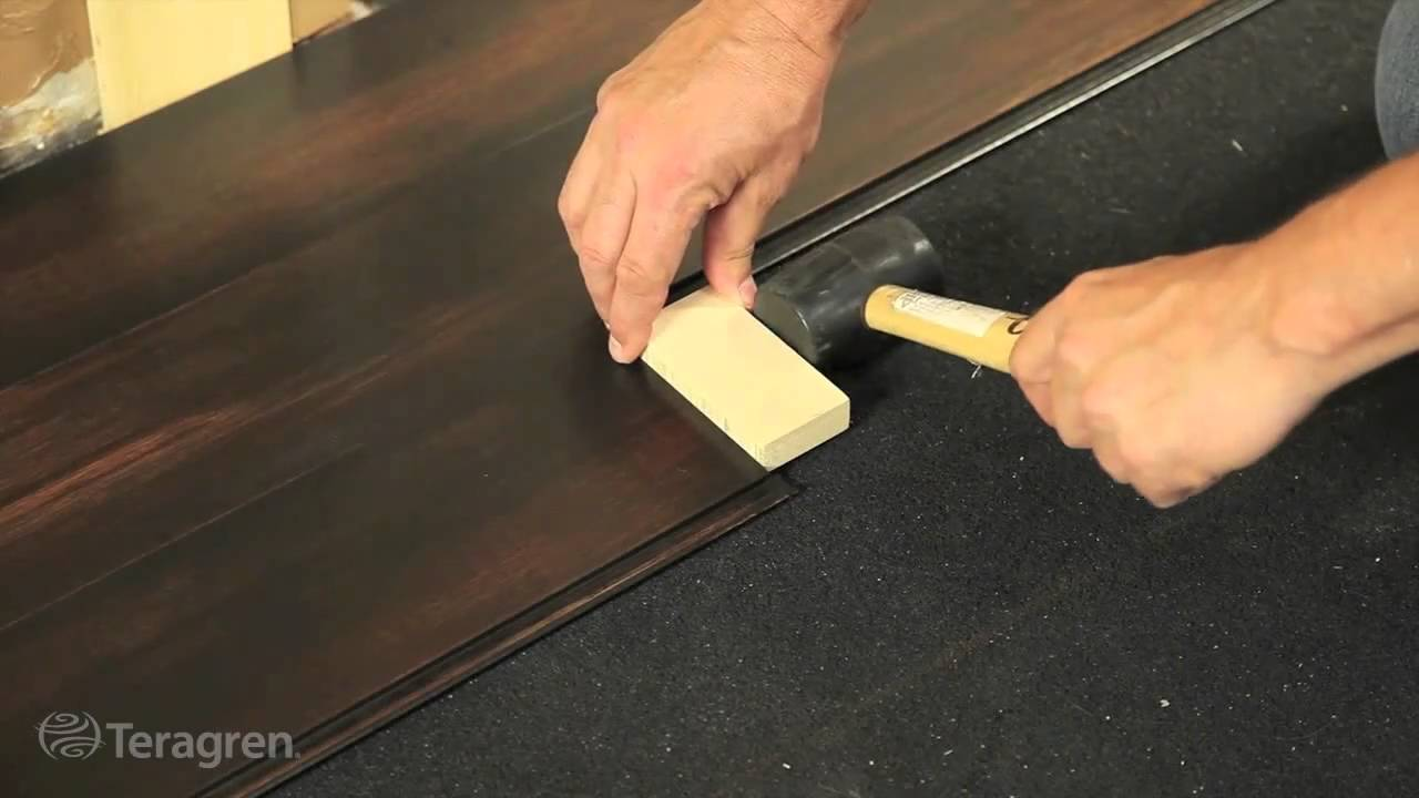 How to install bamboo teragren drop lock strand bamboo for Installing bamboo flooring